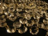 1 METRE CHAIN OF GLASS OCTAGONS - 55 x 12mm drops